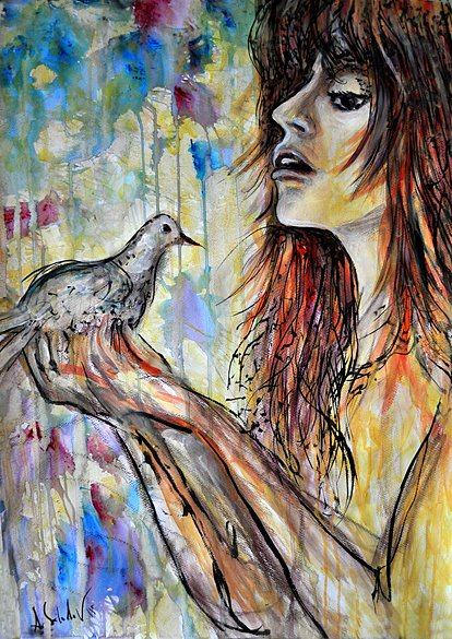 Girl with a dove, 2015