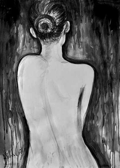 Nude Model from the Back, 2015