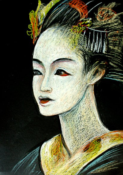 Portrait of a young geisha, 2014