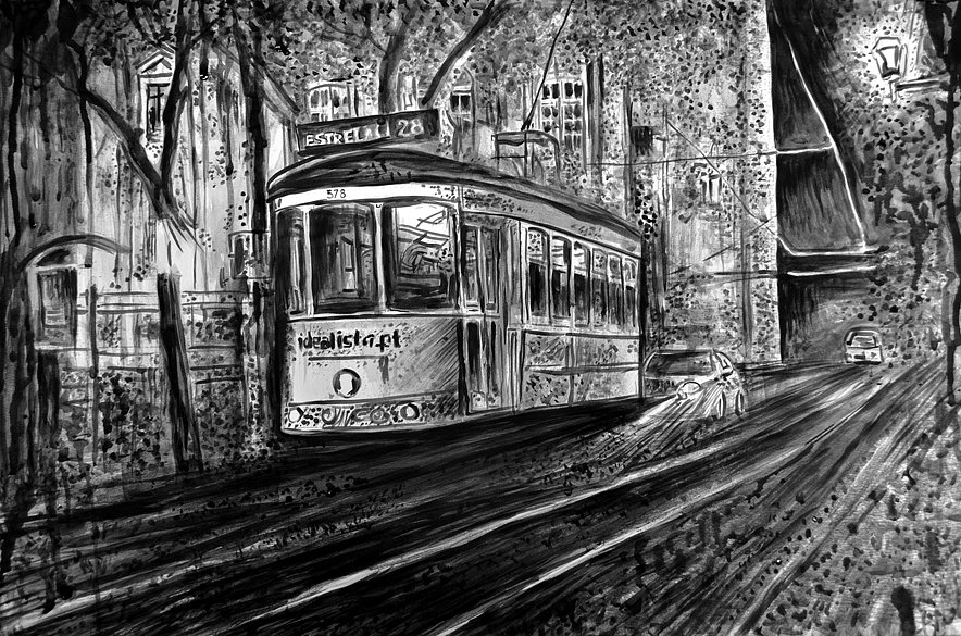 Night Tram in Lisbon, 2016