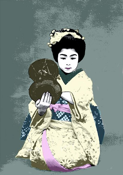 young Geisha with drum, 2015
