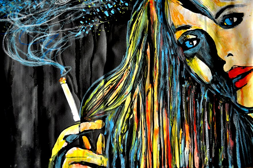 Blonde Girl with Cigarette, 2015