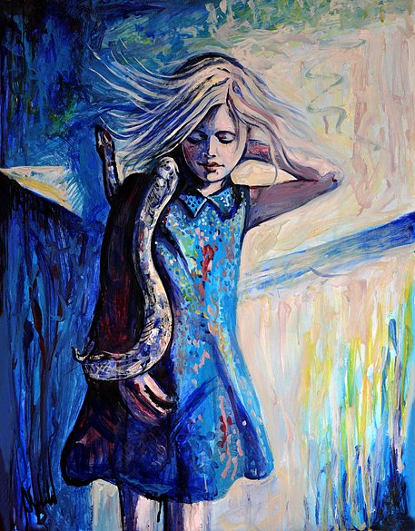 Girl with Serpent, 2016