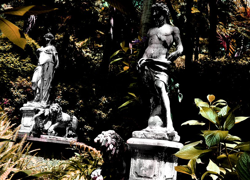 Statues in Tropical Garden, 2017